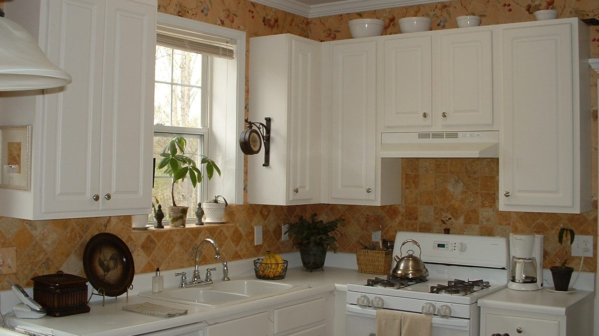 Kitchen Interiors Highlighted With Cabinets
